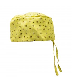 Surgical Cap - Yellow & Red Dots