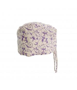 Surgical Cap - Purple Flowers