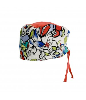 Surgical Cap - Colored Flowers