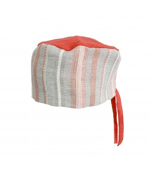 Surgical Cap - Red & Grey